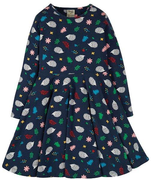 Frugi Sofia Skater Dress Hedgehogs