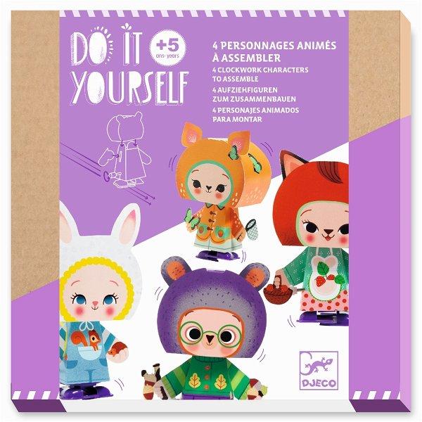 Djeco Do It Yourself - Figuren zum Zusammenbauen - SŸüße Waldtiere
