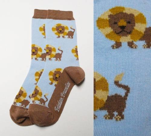 Fräulein Prusselise Socken Löwe Braun