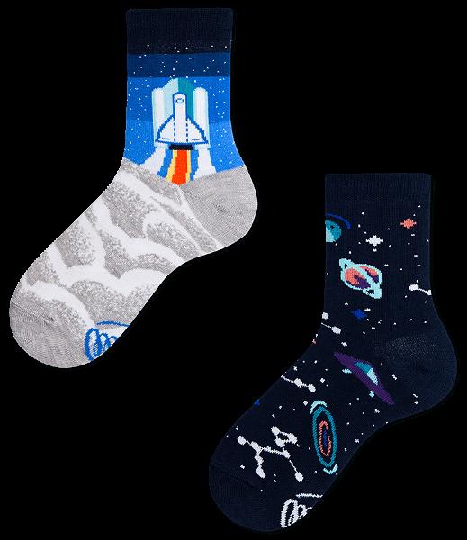 Many Mornings Space Trip Socks