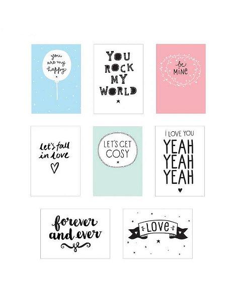 A Little Lovely Company Lightbox Sheets Love