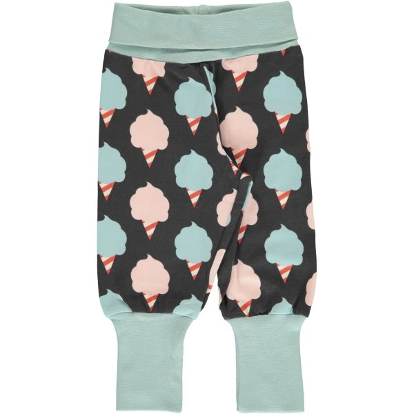 Maxomorra Pants Rib Sweet Cotton Candy