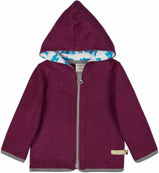 Loud + Proud Jacke Fleece Plum