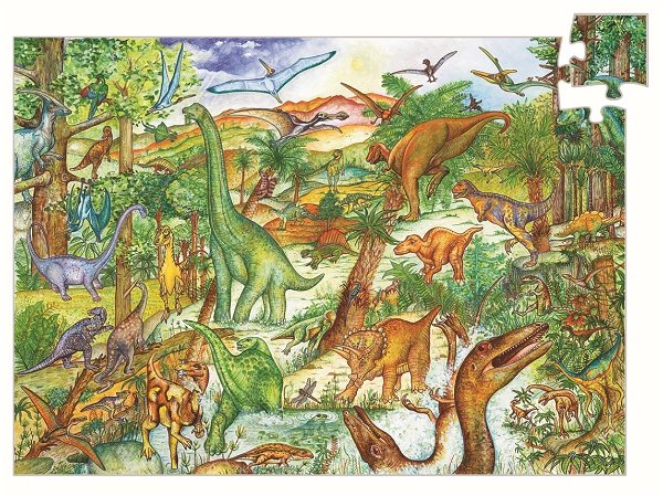 Djeco Wimmelpuzzle: Dinosaurier
