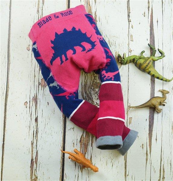 Blade & Rose Pink Stegosaurus Leggings