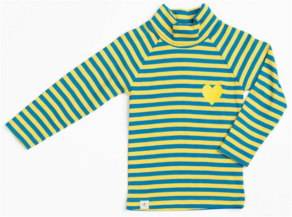 Albababy Westwind Highneck Blouse Ceylon Yellow Love Striped