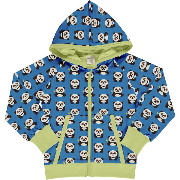 Maxomorra Cardigan Hood Playful Panda