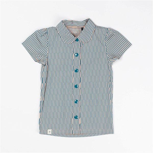 Albababy Isolde T-Shirt Lyons Blue Split Striped