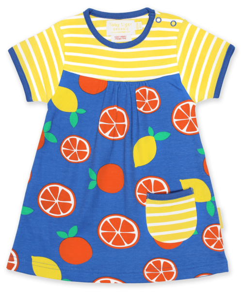 Toby tiger Oranges and Lemons Print SS Dress