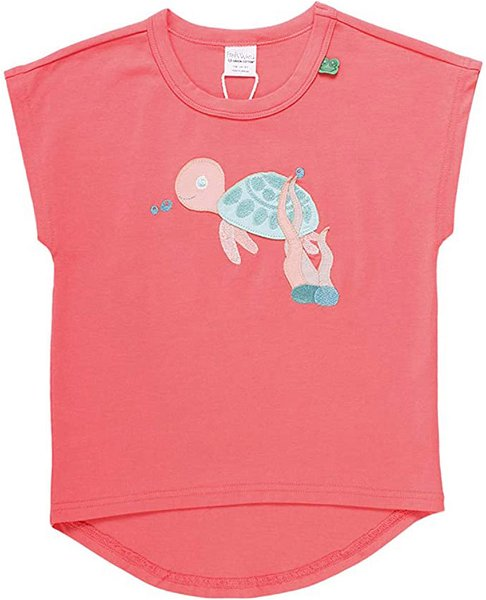 Fred`s World by Green Cotton Ocean Turtle T-Shirt, Coral