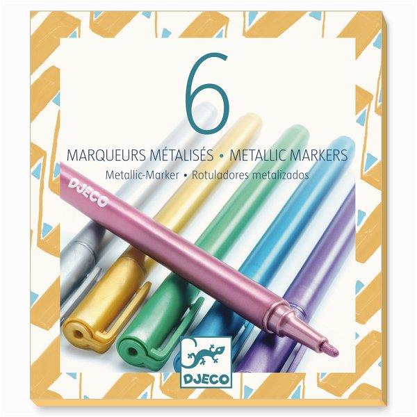 Djeco Farben - 6 Metallic Marker