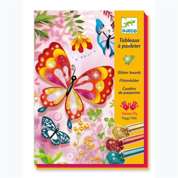 Djeco Glitzerbilder Butterflies