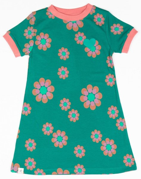 Albababy Vida Dress Alpine Green Flower Power Love