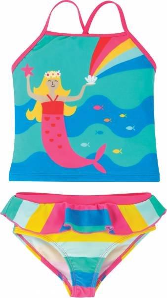 Frugi Trevose Tankini Set, Pacific Aqua/Mermaid