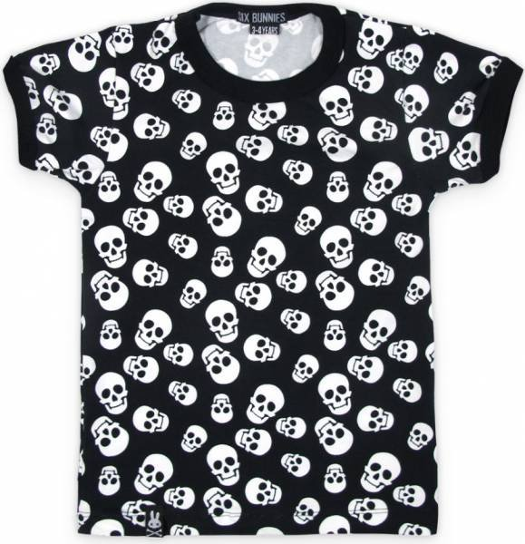 Six Bunnies T-Shirt Polka Skulls