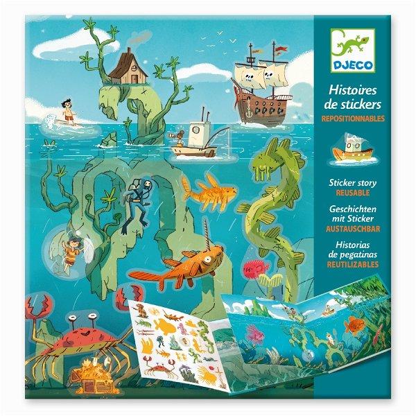 Djeco Geschichten mit Stickern - Meeresabenteuer