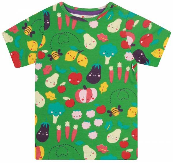 Piccalilly Grow Your Own All Over Print T-Shirt Green
