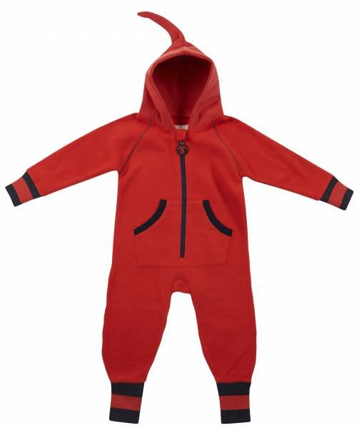 Ducksday Fleece Suit Red Blue New