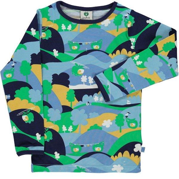 Smafolk T-Shirt with Landscape Medieval Blue