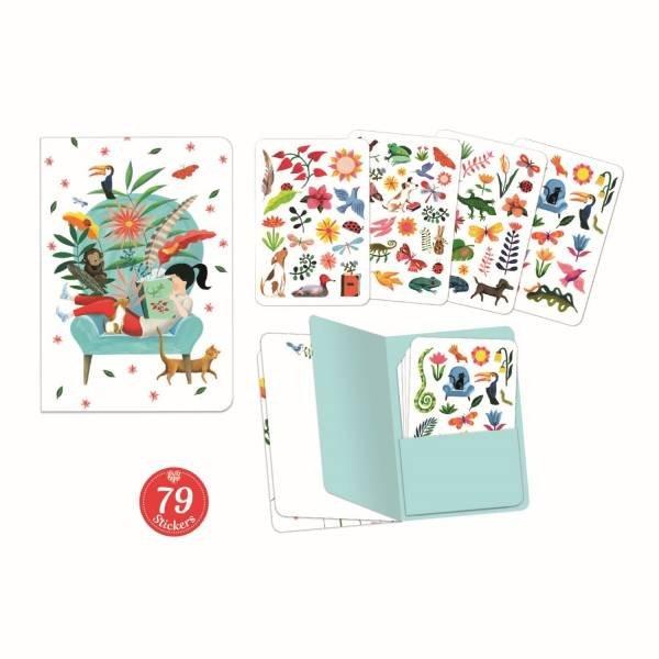 Djeco Notizbuch mit Stickern Sarah