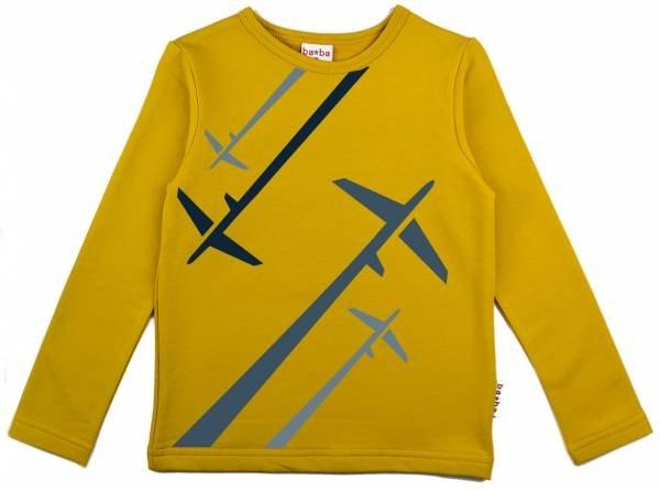 Baba Babywear Longsleeve Airplanes Mustard