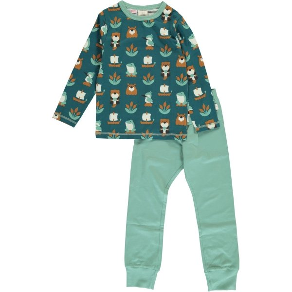 Maxomorra Pyjama Set LS Lake Life