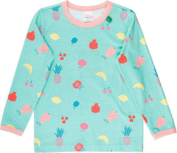 Fred`s World by Green Cotton Fruit T-Shirt, Aqua