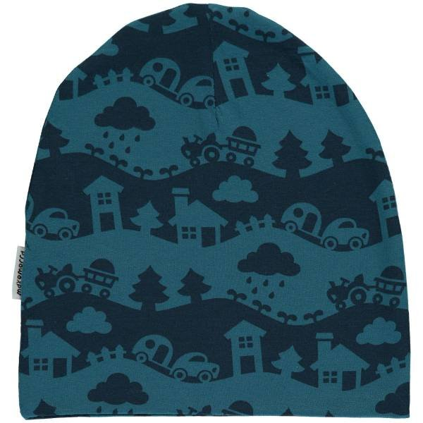 Maxomorra Hat Velour Blue Landscape