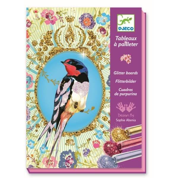 Djeco Glitzerbilder Glitter Birds