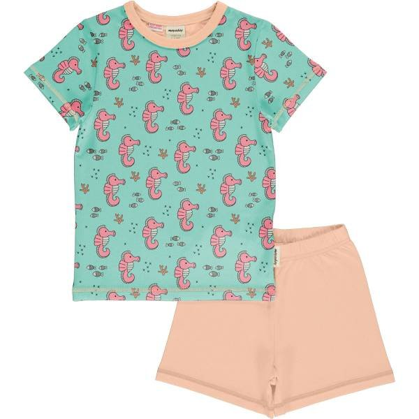 Meyadey by Maxomorra Pyjama Set SS Sea Horses
