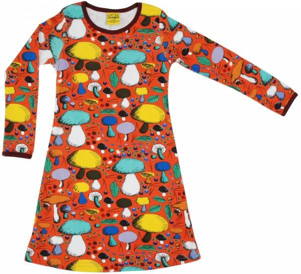 DUNS Mushroom Forest Dark Orange LS Dress