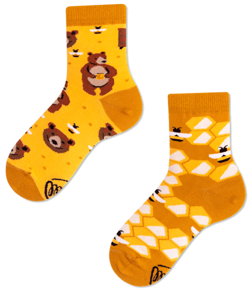 Many Mornings Honey Bear Socks