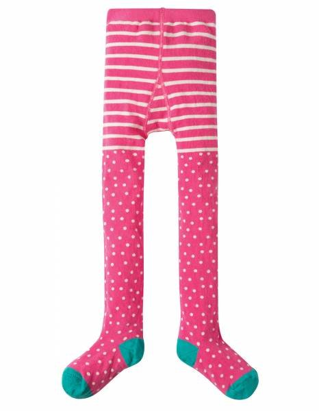 Frugi Tamsyn Tights Flamingo Polka Dot