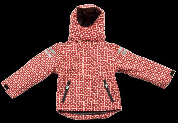 Ducksday Winter / 4 Jahreszeiten Jacke Detatchable Fleece Jacket Funky Red