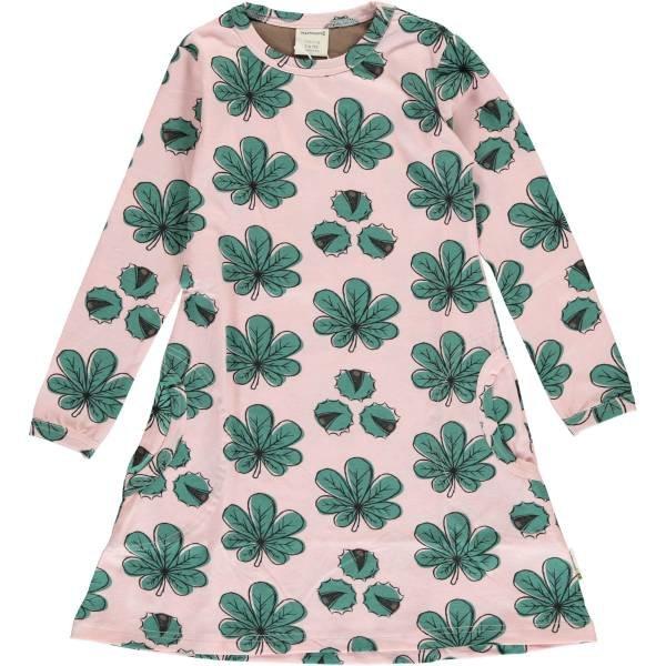 Maxomorra Dress LS Chestnut Leaf