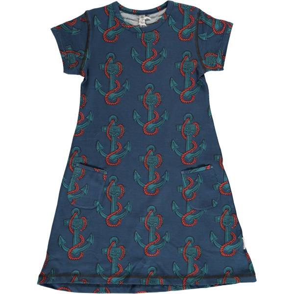Maxomorra Dress SS Anchor