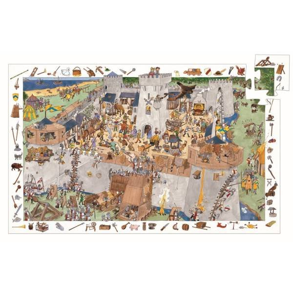 Djeco Puzzle Wimmelild Burg 100 Teile