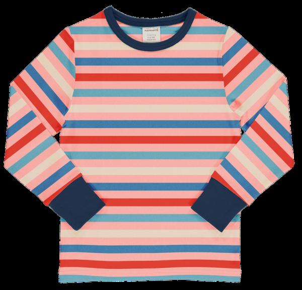Maxomorra Top LS Stripe Blossom