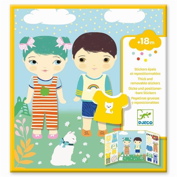 Djeco Sticker - Kleidung