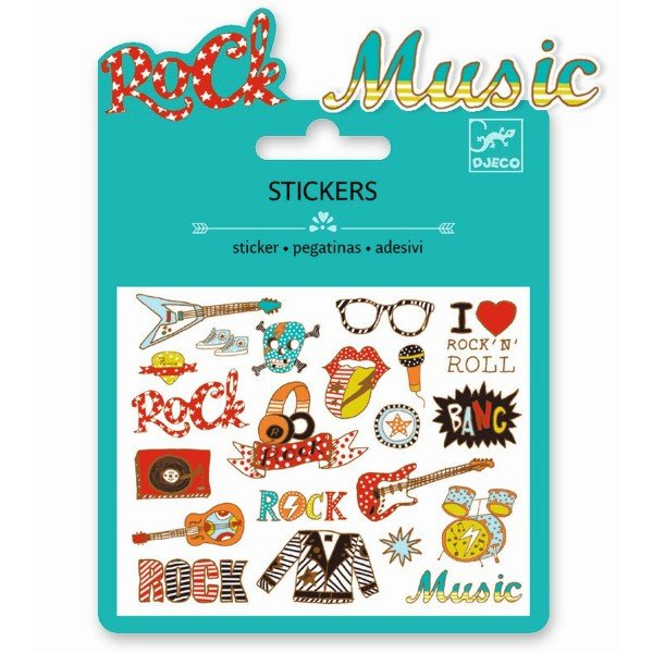 Djeco Kleine Sticker Pop and Rock