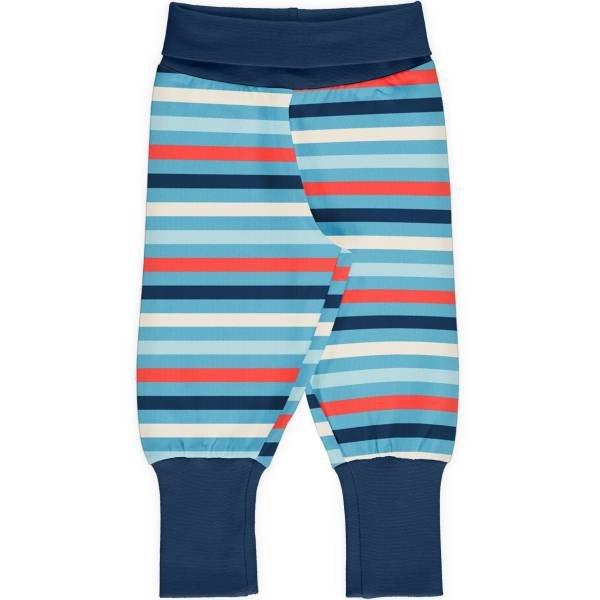Maxomorra Pants Rib Stripe Sky