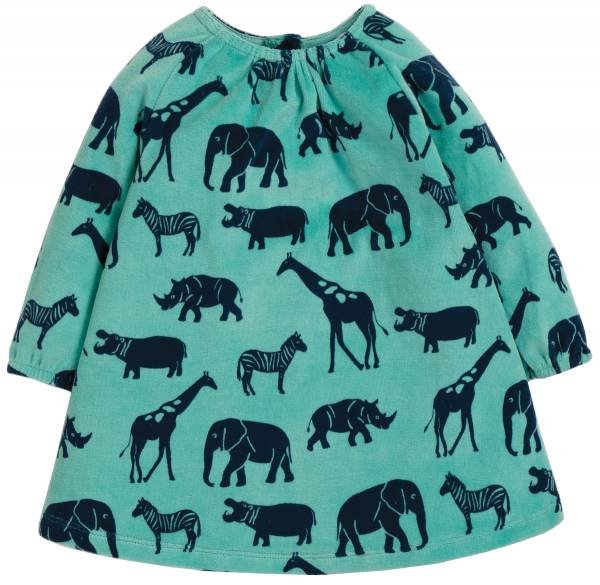 Frugi Vanessa Velour Dress Savannah