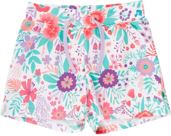 Fred`s World by Green Cotton Aloha Shorts, White