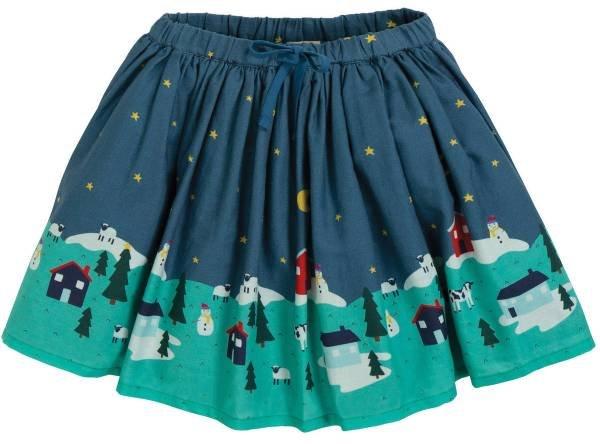Frugi Twirly Dream Skirt Christmas Village Scene