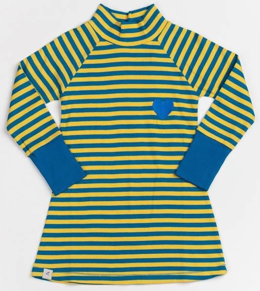 Albababy Clara Cosy School Dress Ceylon Yellow Love Stripes