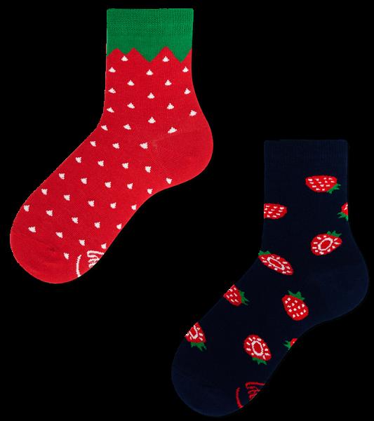 Many Mornings Strawberry Socks