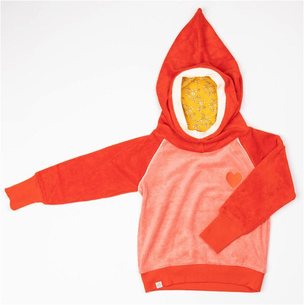 Albababy Habian Hood Blouse Spicy Orange