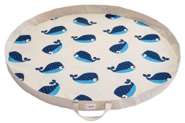3 Sprouts Spielmatte / Spielsack Wal
