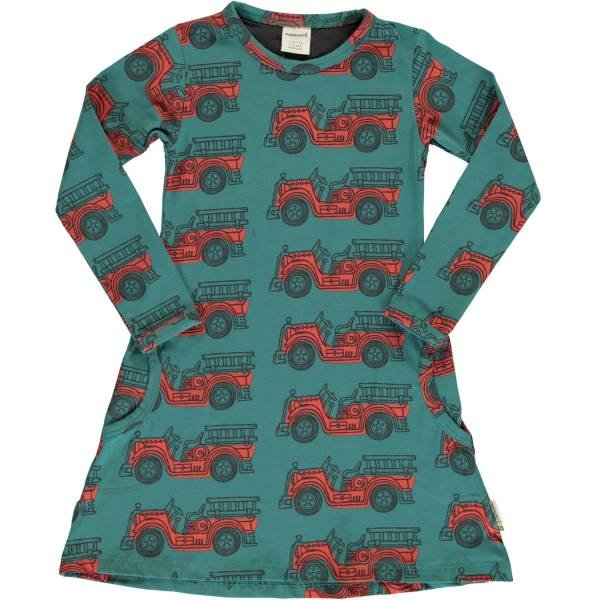 Maxomorra Dress LS Vintage Firetruck