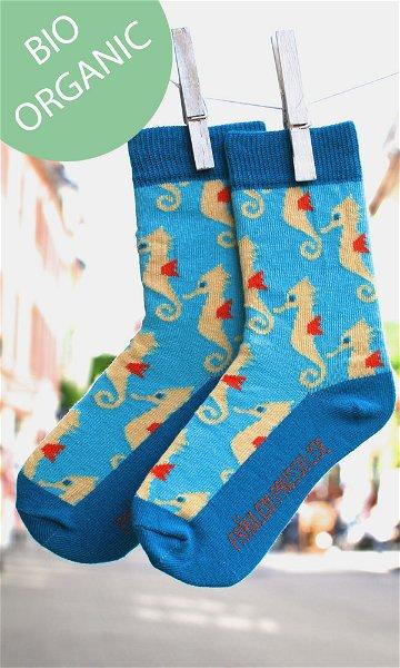 Fräulein Prusselise Bio Socken Seepferdchen